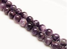 Image de 10x10 mm, perles rondes, pierres gemmes, améthyste, naturelle, qualité AB