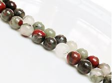 Picture of 8x8 mm, round, gemstone beads, African bloodstone, natural