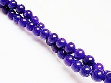 Picture of 6x6 mm, round, gemstone beads, jade, purple, A-grade