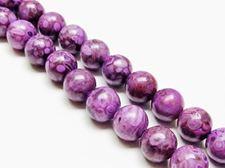Image de 10x10 mm, perles rondes, pierres gemmes, jaspe océanique, violet